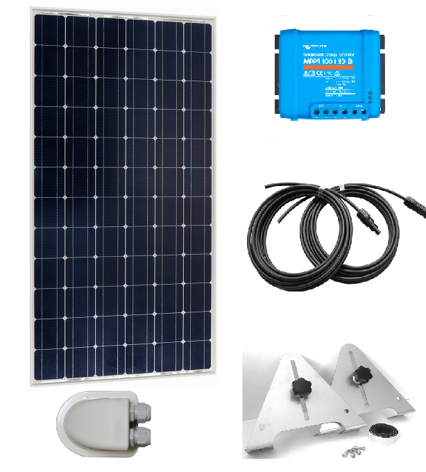 305w Monocrystalline Diy Solar Panel Kit With Mppt