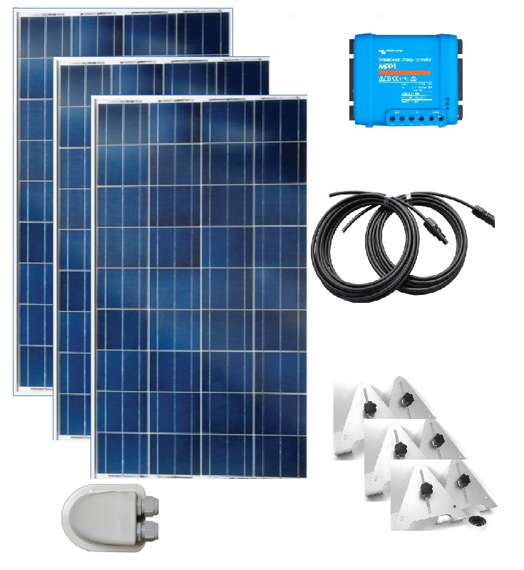 525w 3 X 175w Polycrystalline Diy Solar Panel Kit With Mppt